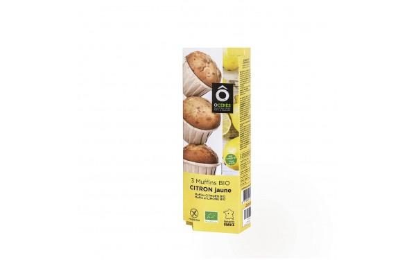 3 muffins BIO Citron Jaune de Sicile 3x45g 135g