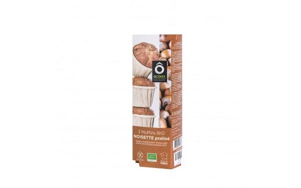 3 muffins BIO Noisette Praliné 3x50g 150g